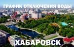 График отключения горячей воды на 2019 год в Хабаровске