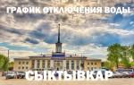 График отключения горячей воды в 2019 году в Сыктывкаре