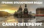 График отключения воды 2018 в Санкт-Петербурге
