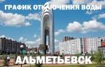 График отключения горячей воды на 2019 год в Альметьевске