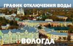 График отключения горячей воды в 2018 году в Вологде
