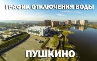 График отключения горячей воды на 2019 год в Пушкино