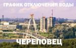 График отключения горячей воды в 2018 году в Череповце