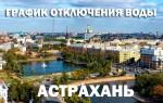 График отключения горячей воды на 2020 год в Астрахани