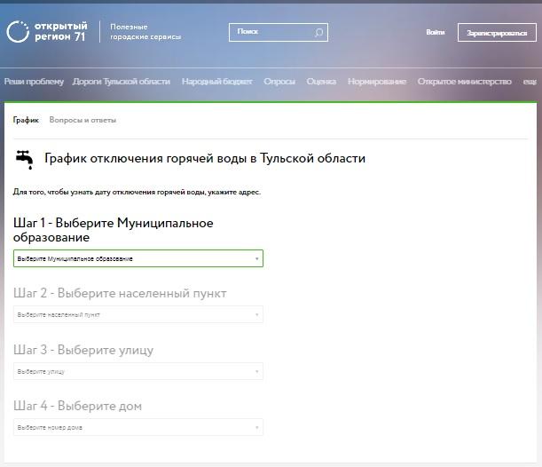 Скриншот онлайн-сервиса г. Тула 2021